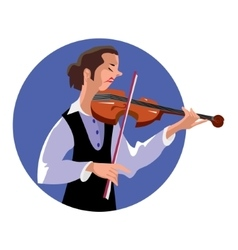 Violinist vector image