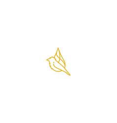 water drop bird line art logo icon vector image