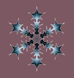 winter black-blue isolate icon vector image