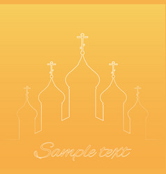 With contours orthodox church vector