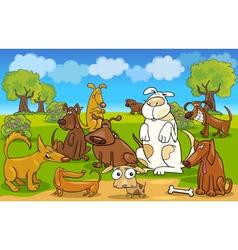 Cartoon dogs vector image vector image