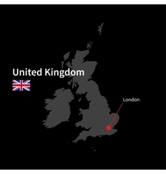 Detailed map of United Kingdom and capital city vector image