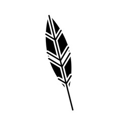 feather ink isolated icon vector image