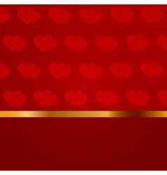 Valentines day blank with pattern of hearts vector image