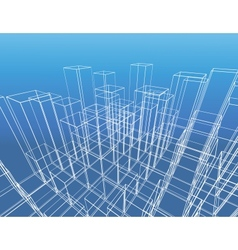 abstract city construction vector image