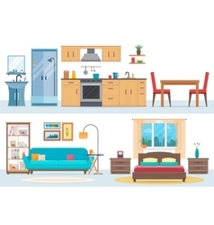 Apartment inside vector image vector image