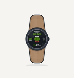 Digital watch call vector image vector image