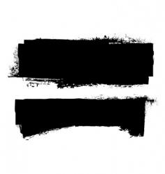 grunge ink banner vector image vector image