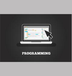laptop programming concept vector image