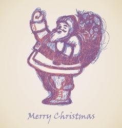 Violet Santa Claus Sketch vector image