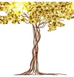 beautiful paper decorated with fairy tree and vector image