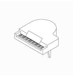 Piano icon isometric 3d style vector image