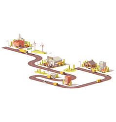 Products supply chain from factory to customers vector