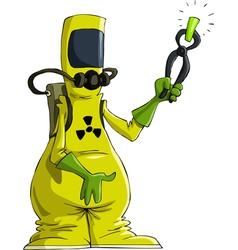 radiation suit vector image