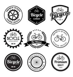 Set of bicycle retro vintage badges and labels vector image