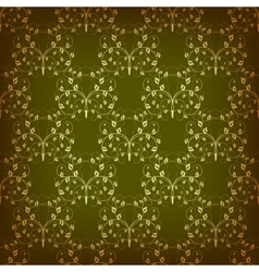 Vintage seamless pattern with swirls vector image vector image