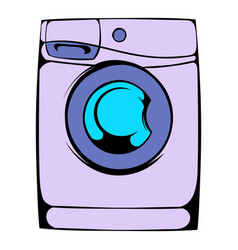 washing machine icon cartoon vector image