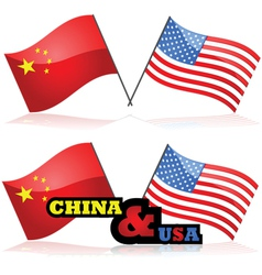 China and the USA vector image