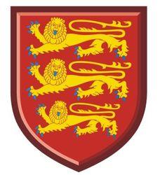 England Royal Arms vector image