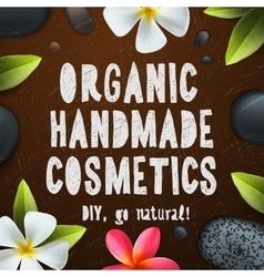 Handmade organic cosmetics vector image