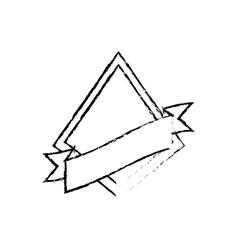 shield star quality badge ribbon sketch vector image vector image