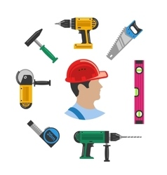 Worker with tools vector image