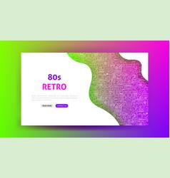 80s retro landing page vector image