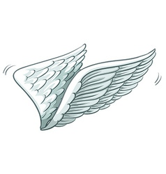 A plain drawing of wings vector image
