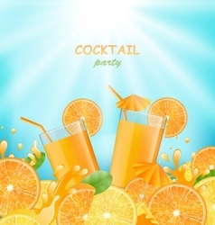 Abstract Banner for Cocktail Party vector