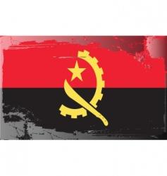 Angola national flag vector