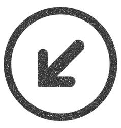 Arrow Left Down Icon Rubber Stamp vector image