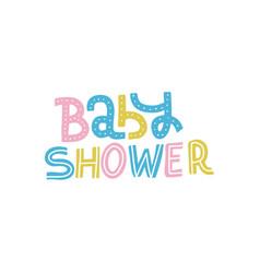 baby shower nursery print for invitation kids vector image