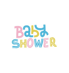 bashower nursery print for invitation kids vector image