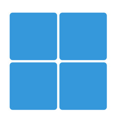 Blue window block icon isolated on background mod vector