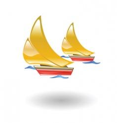 Boats illustration vector