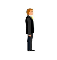 businessman in suit and tie with a smile vector image