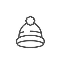 cap line icon vector image