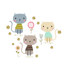Card with cute cats vector