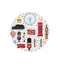 cartoon london sights vector image