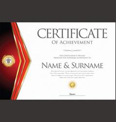 Certificate or diploma retro design collection 1 vector