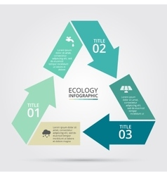 Circle nature infographic vector