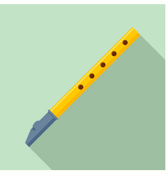 Classic flute icon flat style vector