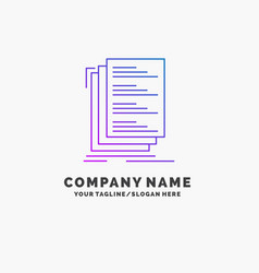 code coding compile files list purple business vector image