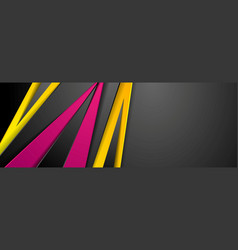 colorful abstract stripes corporate banner design vector image