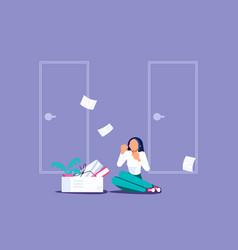Concept dismissal employees vector