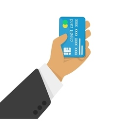 Credit card in hand vector