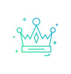 Crown empire king icon design vector