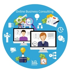 Customer online consulting service concept vector