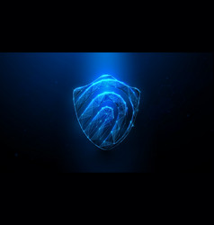 cyber security concept fingerprint icon vector image