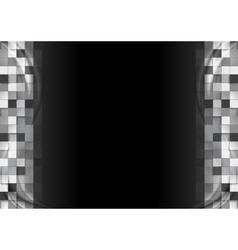 Dark graphic background with mosaic design vector